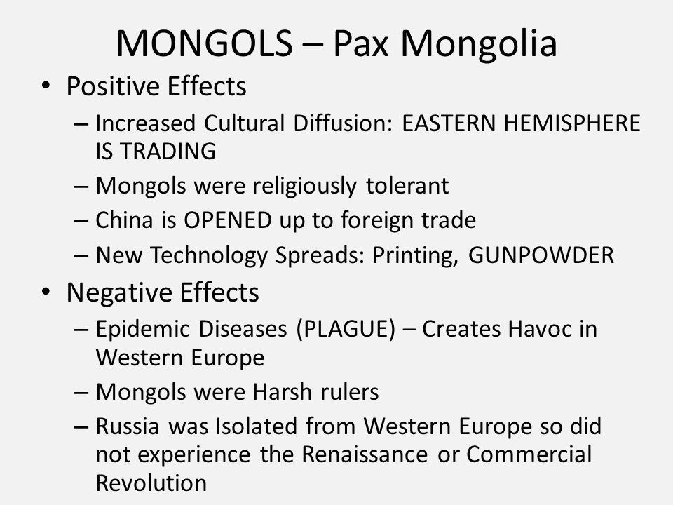 movement of people and goods thematic essay ppt video online  5 mongols pax positive effects negative effects increased cultural diffusion