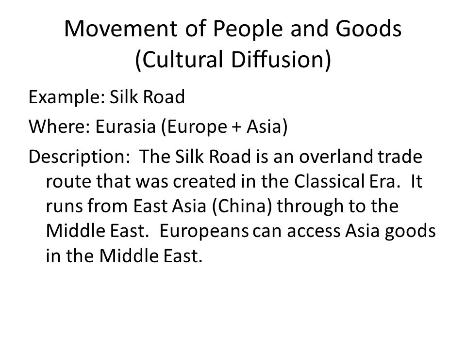 movement of people and goods thematic essay ppt video online  movement of people and goods cultural diffusion