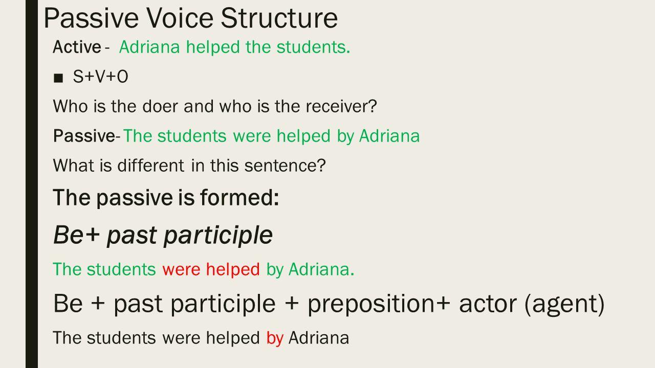 Lesson 2 Passive Voice. - ppt video online download