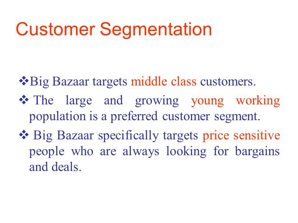 meena bazar segmentation Defined segmentation variables 2 msmeenam is working as teaching assistant at indian institute of  food stores (60 respondents at spencers and food bazaar),.