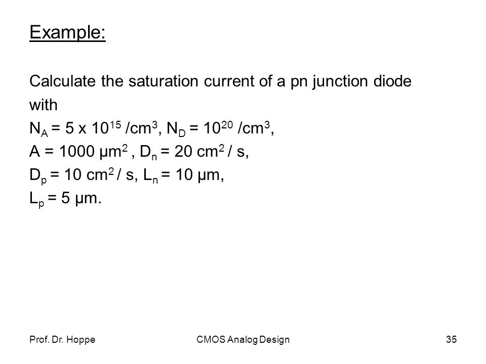 saturation current how to find doiode