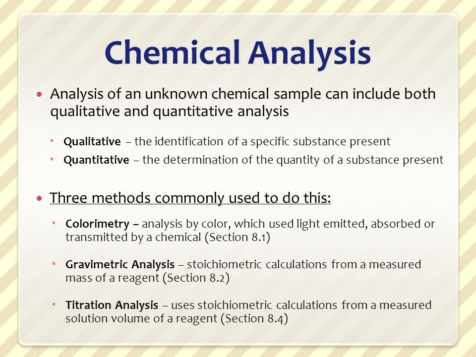 Introduction To Chemical Analysis  Ppt Video Online Download