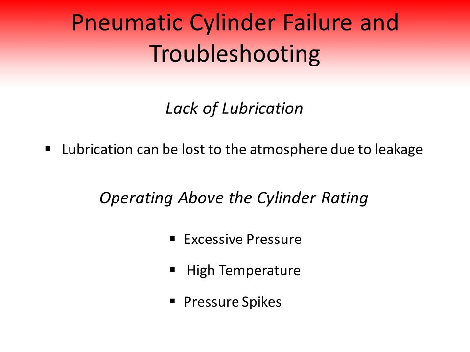 Pneumatic Cylinder Failure and Troubleshooting