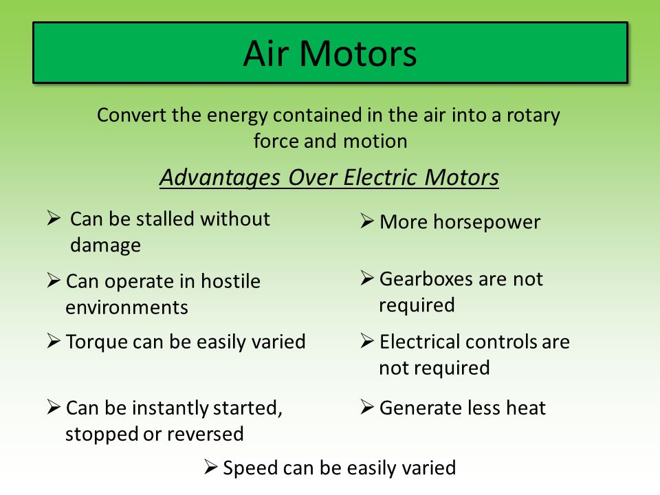 Convert the energy contained in the air into a rotary
