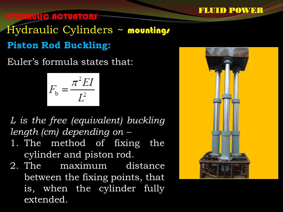hydraulic cylinder calculation formula pdf