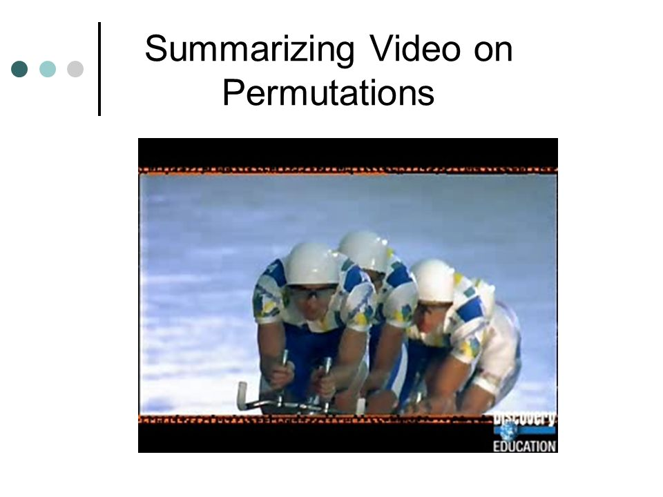 Summarizing Video on Permutations