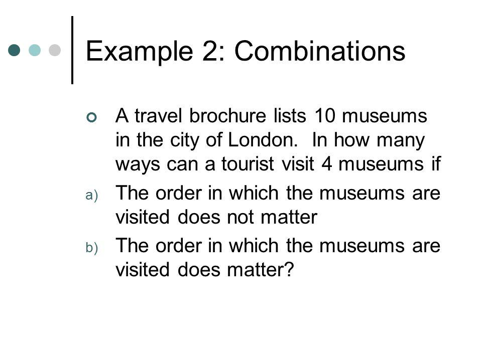 Example 2: Combinations