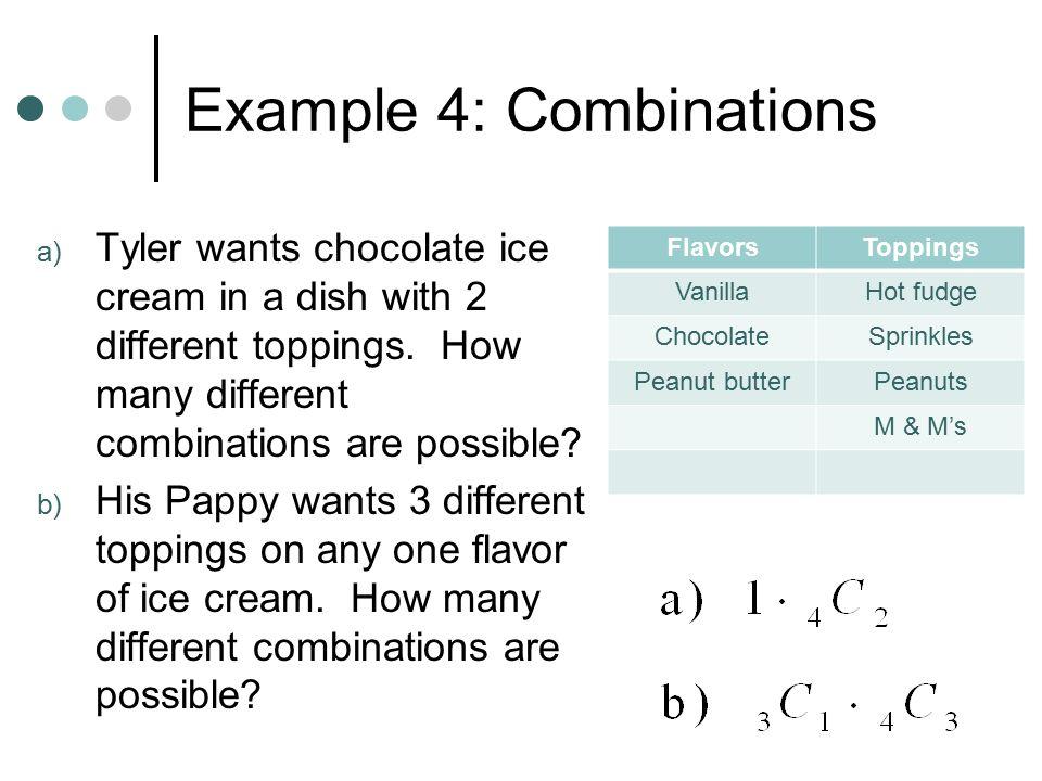 Example 4: Combinations