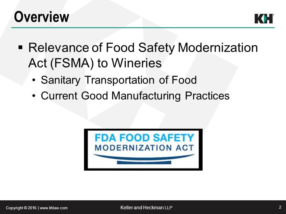 New Food Safety Modernization Act April