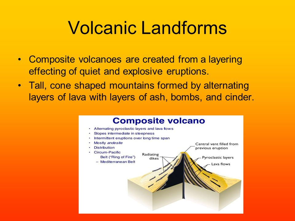 Volcanoes A volcano is a weak spot in the crust where the molten ...