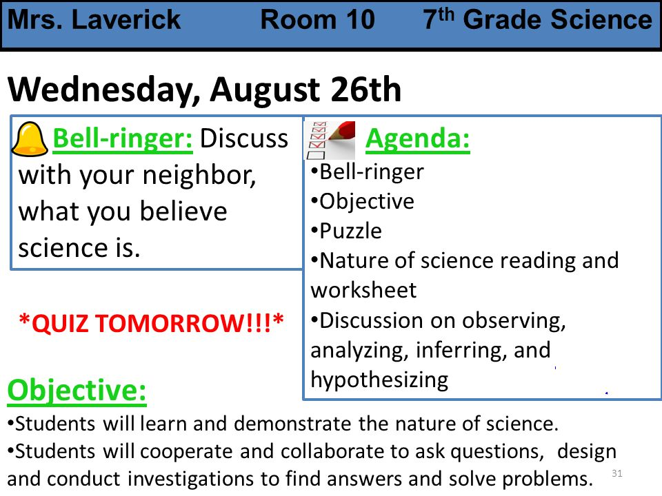 Mrs Laverick Room 10 7th Grade Science ppt download – The Nature of Science Worksheet
