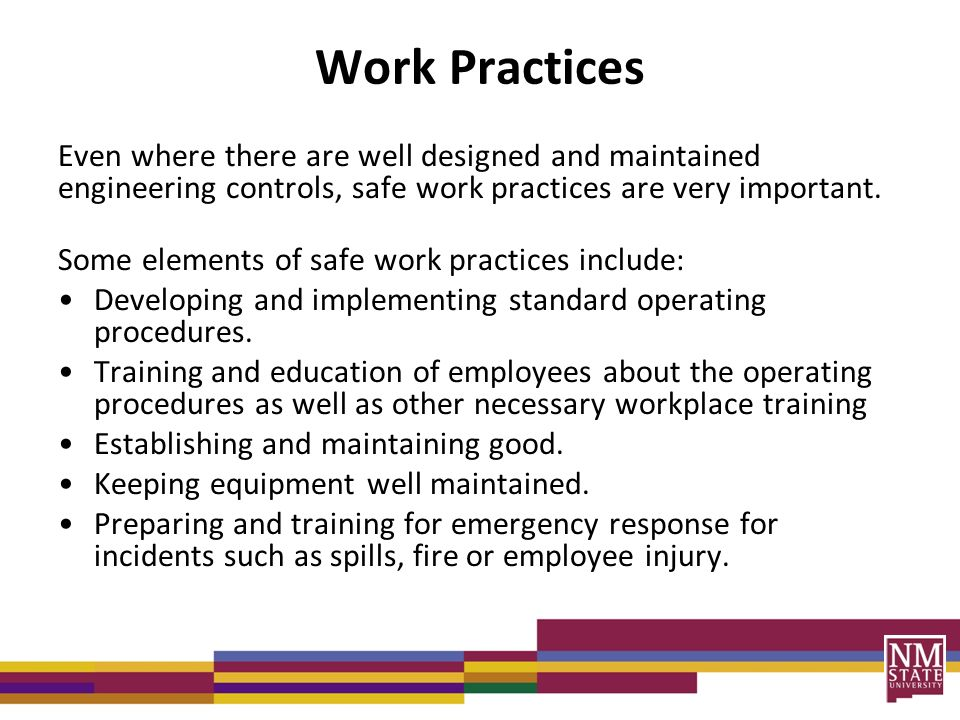 workplace practices and procedures in beauty Follow these 5 best practices to prevent accidents in your workplace  you must always be comfortable and familiar with the procedure before commencing any work 2.