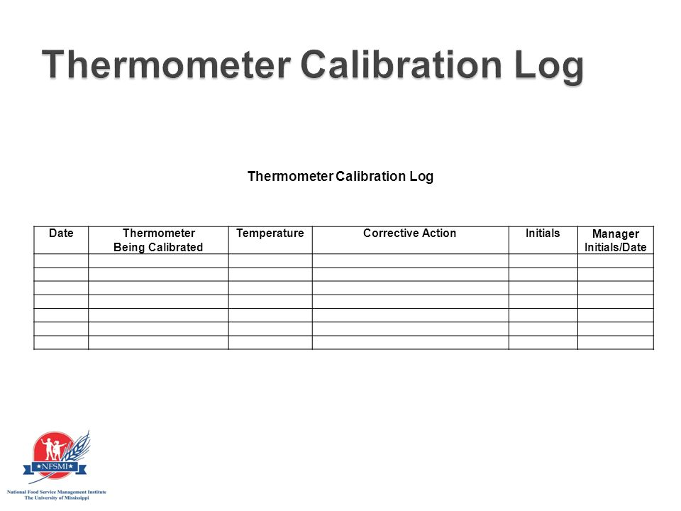 thermometer calibration log