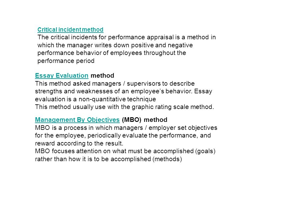 human resource management ppt video online 27 essay evaluation method