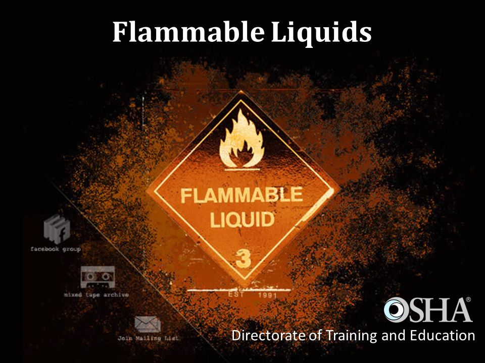 Flammable Liquids Directorate of Training and Education