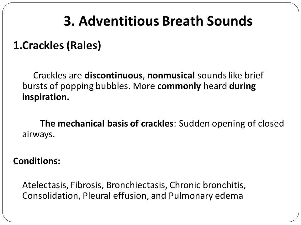 Crackles breath sounds treatment for pneumonia