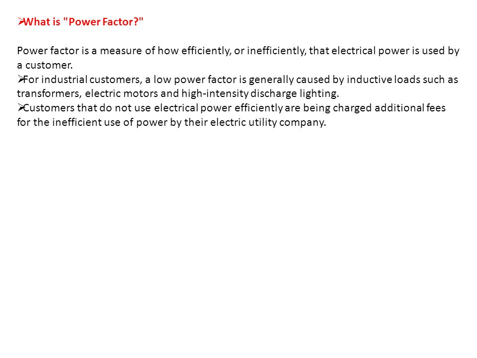 What is Power Factor Power factor is a measure of how efficiently or inefficiently  sc 1 st  SlidePlayer & Power Factor Correction - ppt video online download azcodes.com