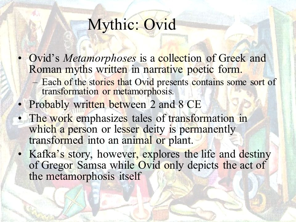 a review of the story of metamorphoses of ovid Metamorphoses (review) julia e whitworth slavitt's translation of the metamorphoses of ovid or the humorous story of adolescent resentment.
