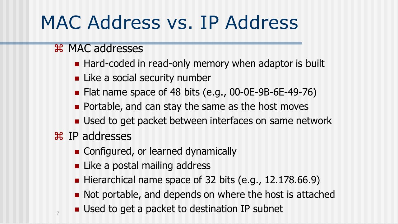 what is ip address and mac address pdf