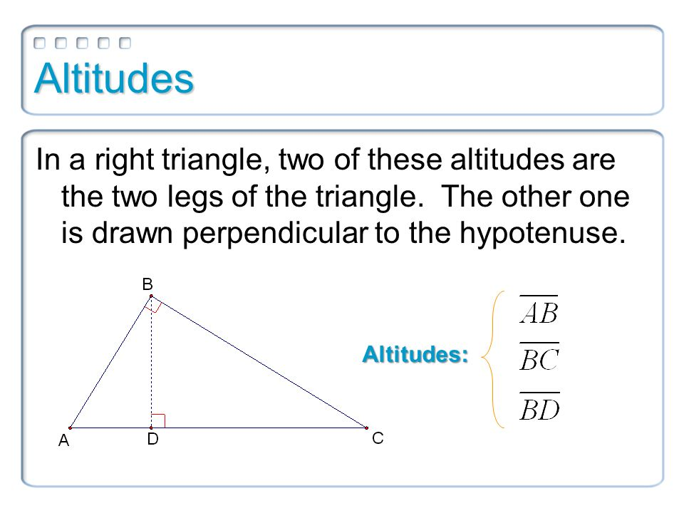 7.3 Use Similar Right Triangles - ppt download