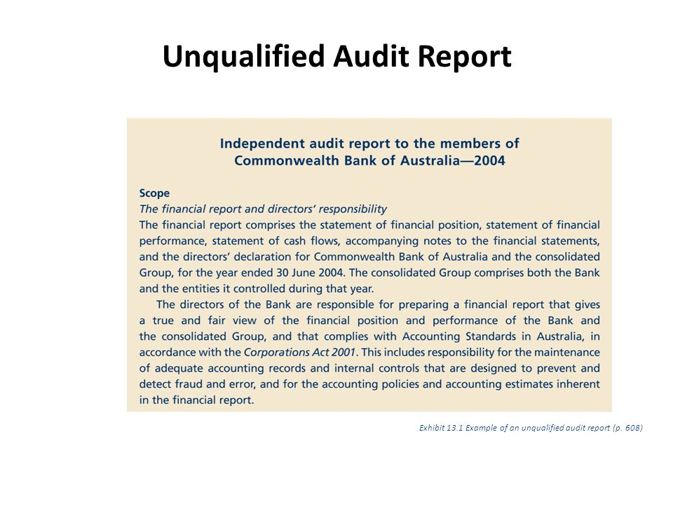 audit reports example