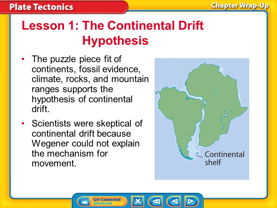 essay evidence supports theory continental drift and plate Continental drift was a theory that explained how continents shift position on earth's surface set forth in 1912 by alfred wegener, a geophysicist and meteorologist, continental drift also.