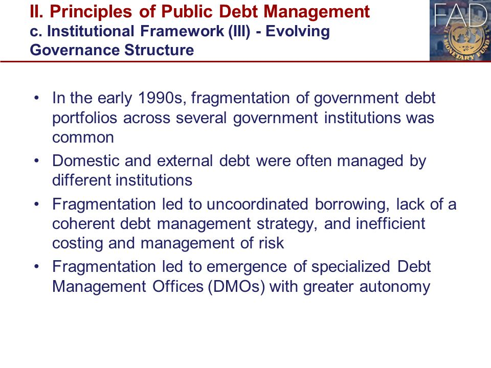 macroeconomics managing public debt The choice of currency denomination, indexation, and maturity structure of public debt is an increasingly important aspect of policy in a world of high debts and.