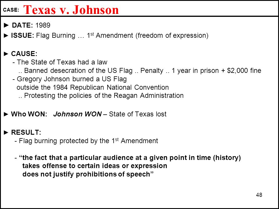 a history and analysis of burning flag in texas Status of the navy strategic documents command directory our ships fact  files today in naval history contact us command addresses (sndl) faq.
