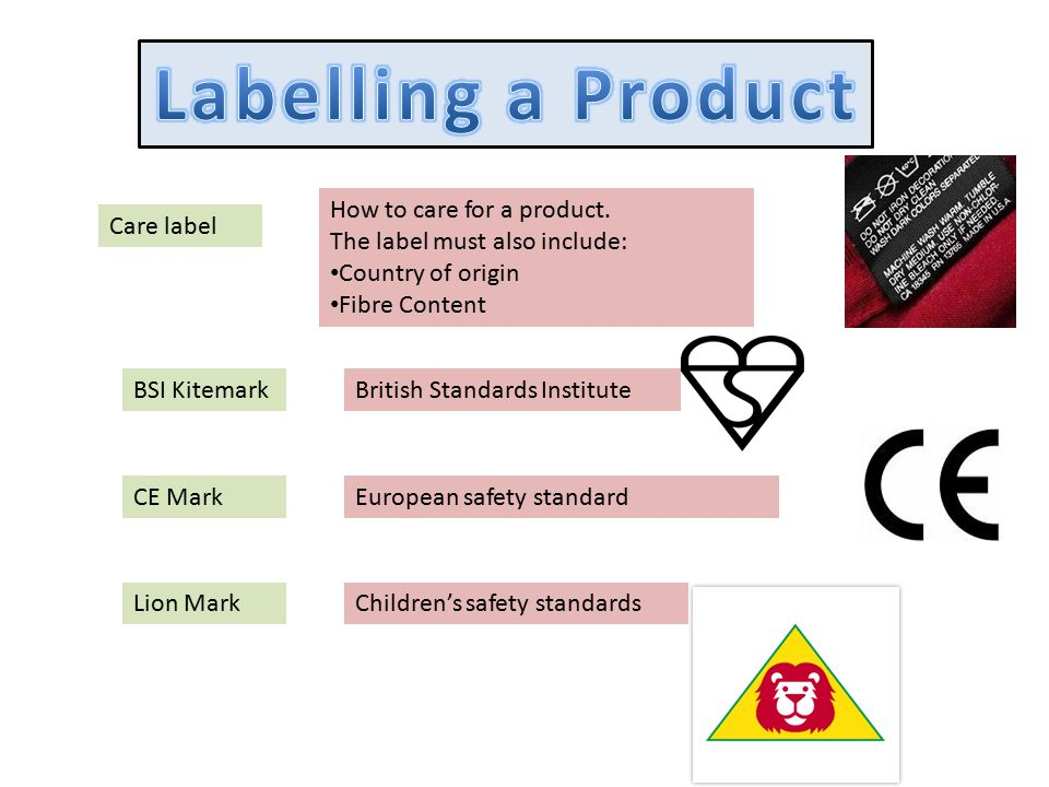 Labelling A Product How To Care For A Product Ppt Video Online