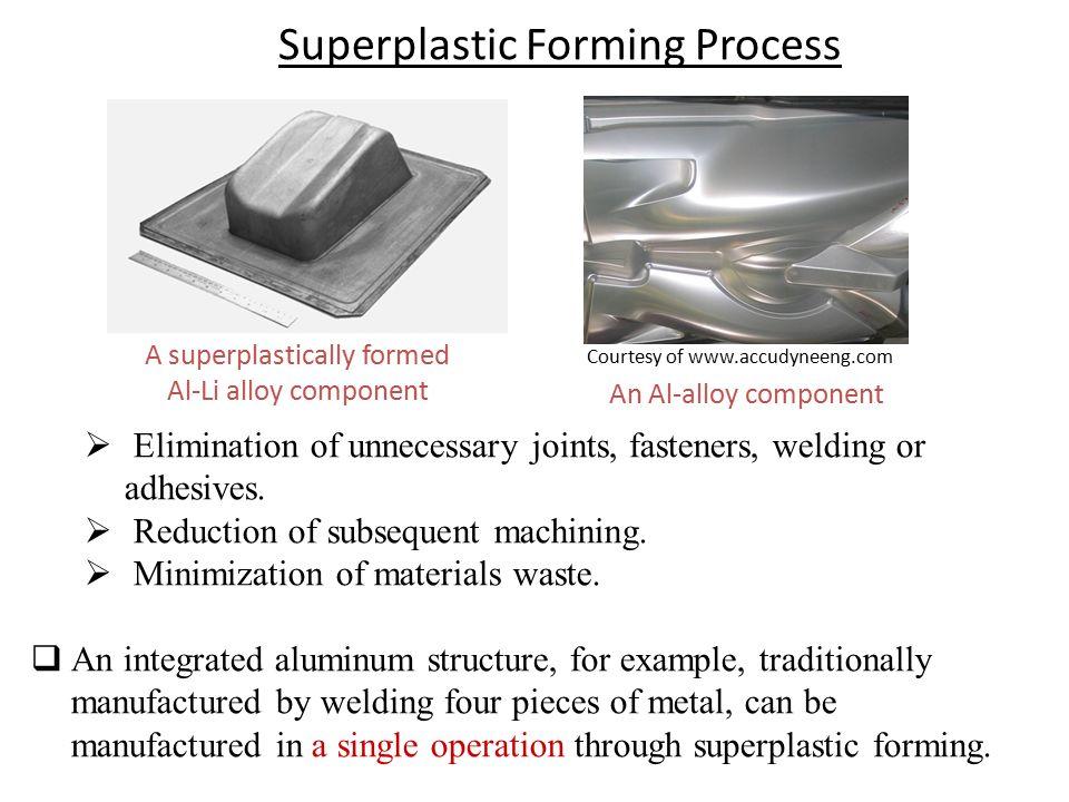 A superplastically formed Al-Li alloy component