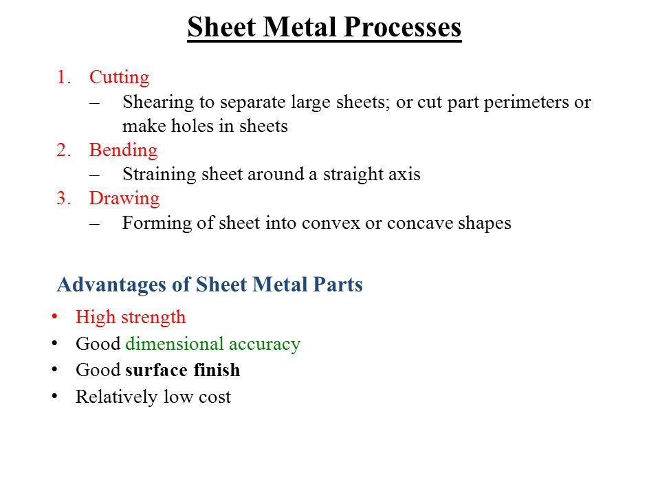 Sheet Metal Processes Advantages of Sheet Metal Parts Cutting
