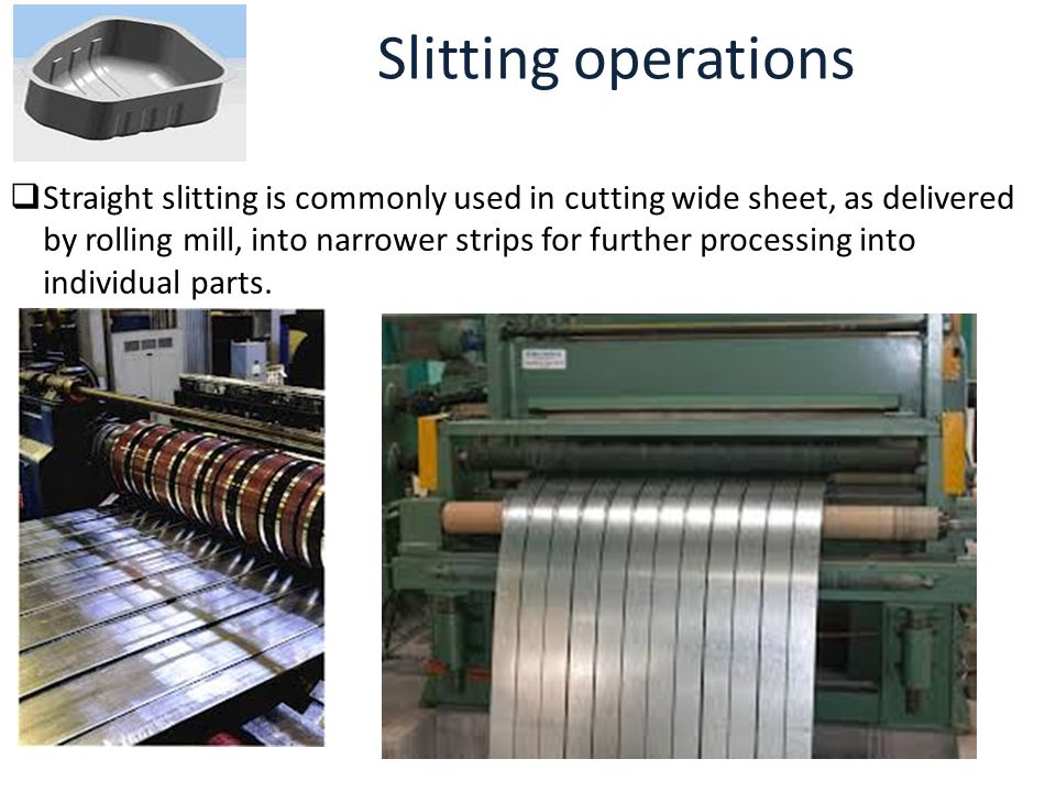 Slitting operations