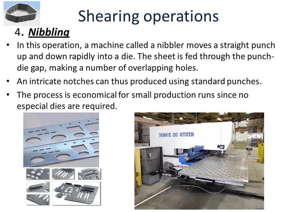 Shearing operations 4. Nibbling
