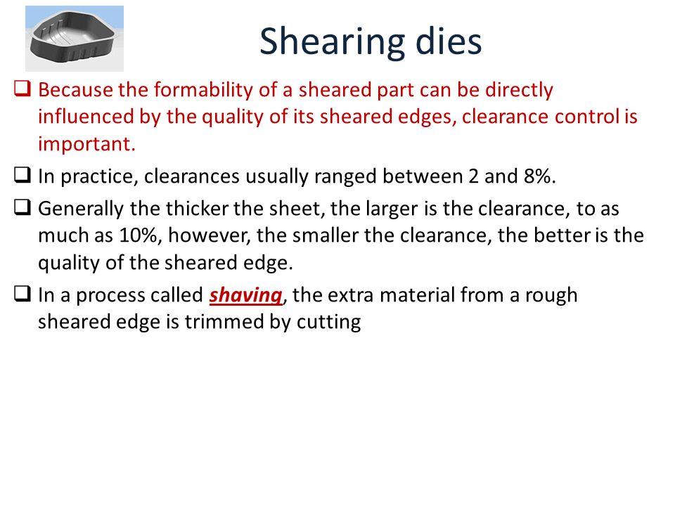 Shearing dies