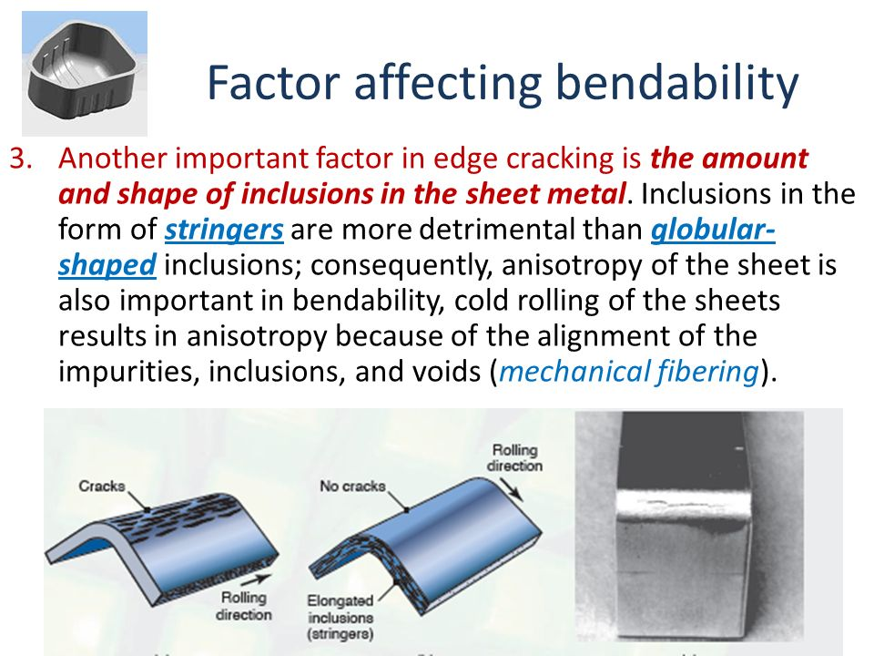 Factor affecting bendability