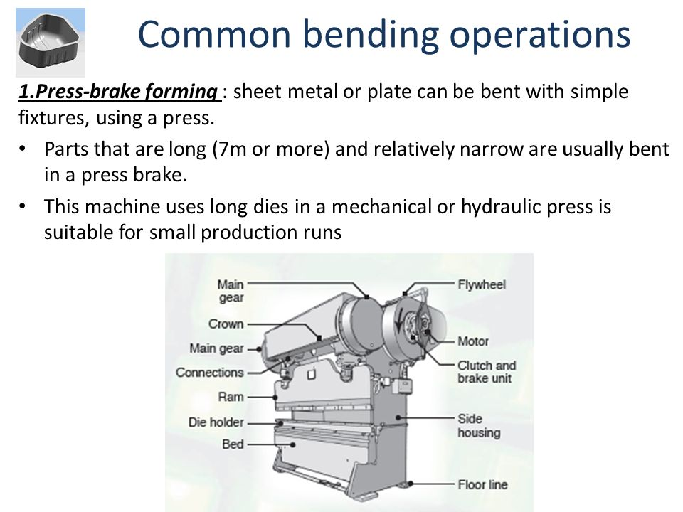 Common bending operations