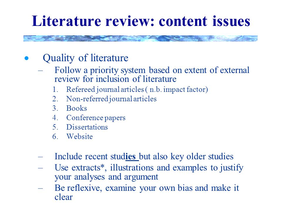 Clk literature review maker