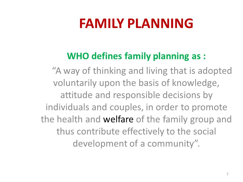 Family Planning Ppt Video Online Download