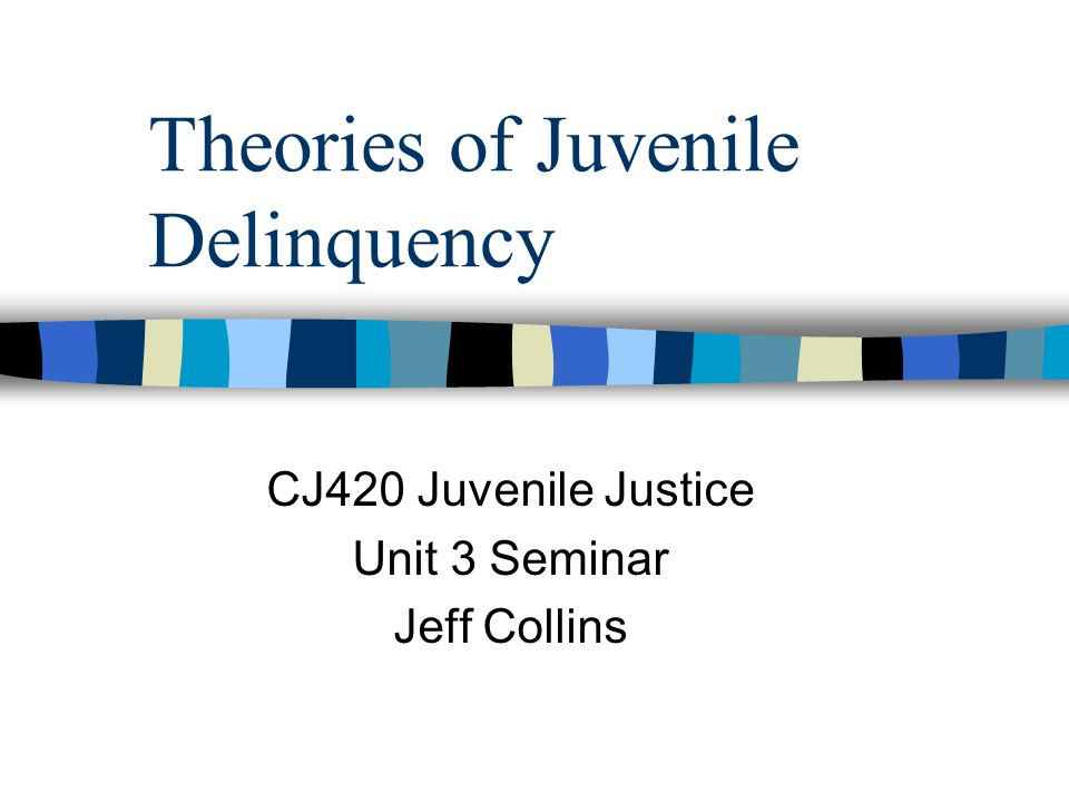 theories of juvenile delinquency Theories of delinquency there are several theories related to the causation of crime and delinquency a theory is a principle or an idea that attempts to define and.