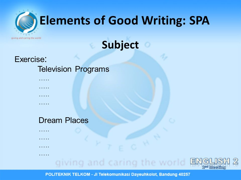 Elements of a good essay ppt