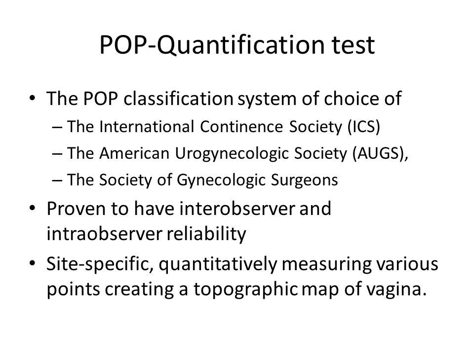 POP-Quantification test