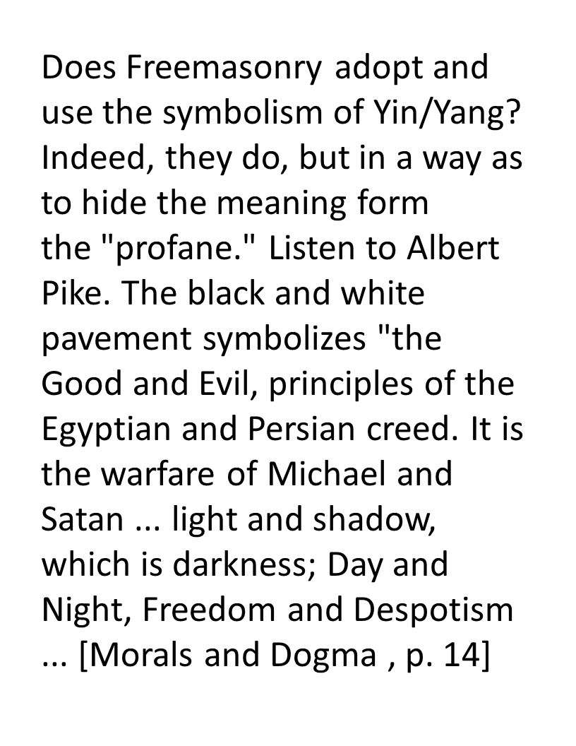 Its symbols snares and conflicts with the word of god ppt download 38 does freemasonry adopt and use the symbolism of yinyang biocorpaavc Gallery