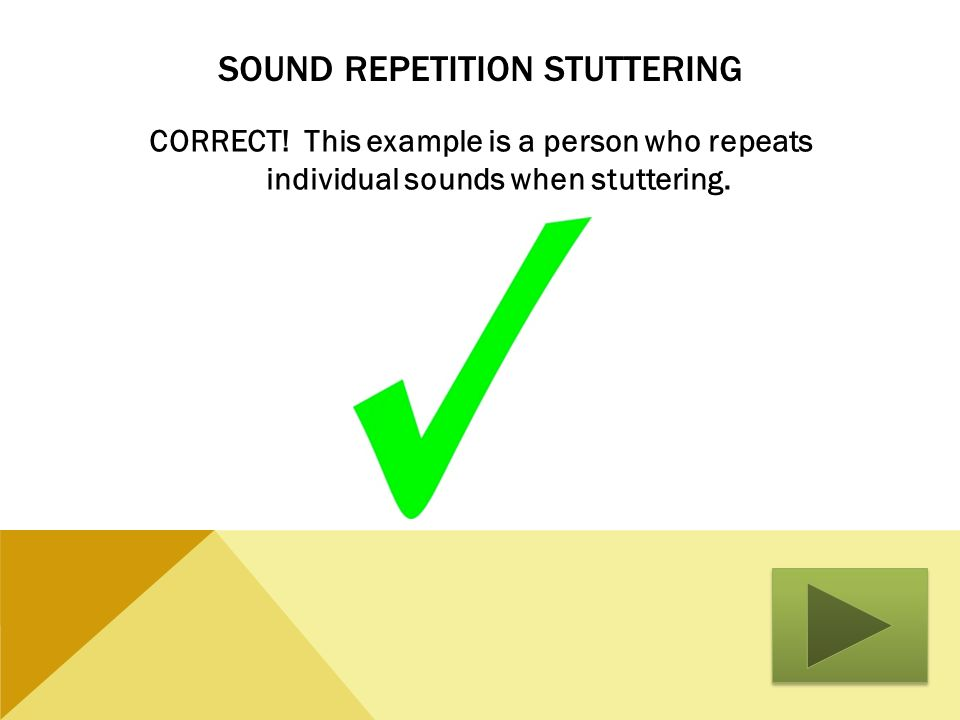 Sound Repetition Stuttering