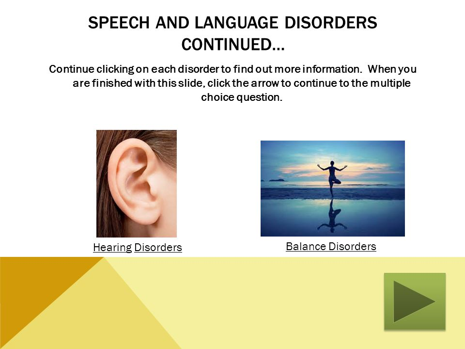 Speech and Language Disorders Continued…