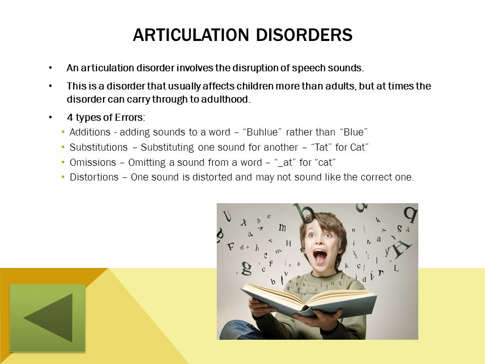 Articulation Disorders