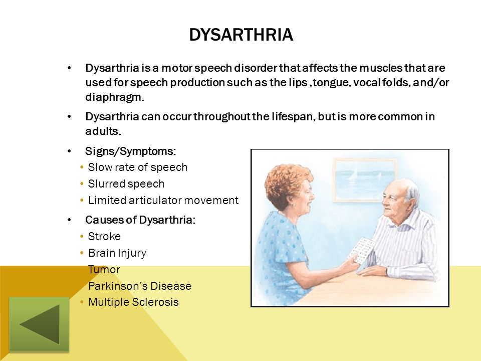 Dysarthria