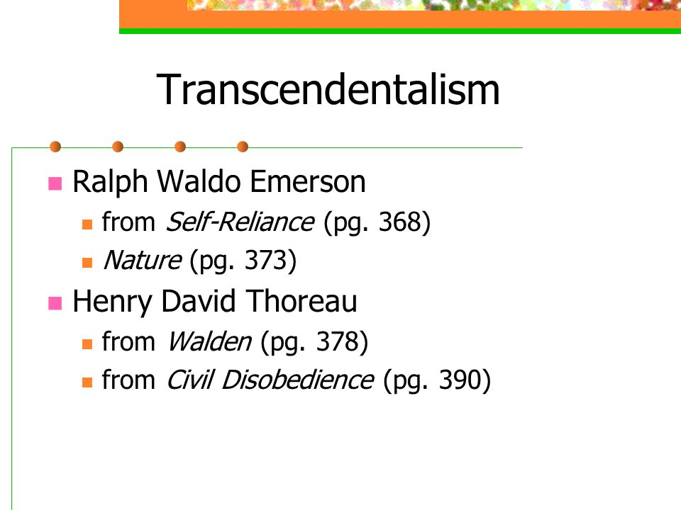 nature ralph walden emerson and henry