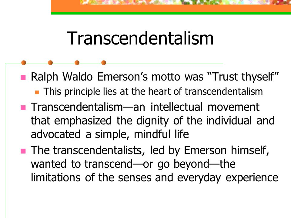 American Transcendentalism and Analysis of Ralph Waldo Emerson's
