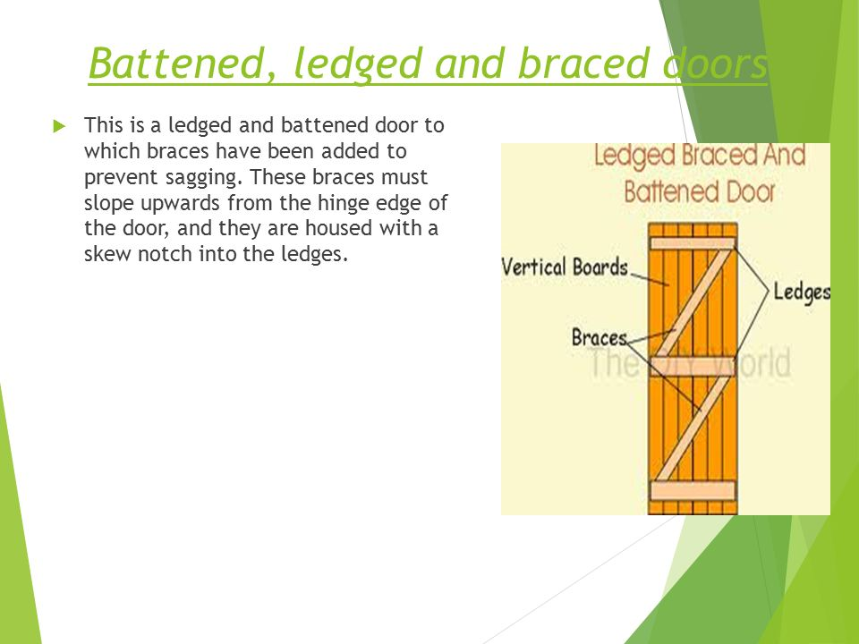 Battened ledged and braced doors  sc 1 st  SlidePlayer & Building Construction - ppt video online download