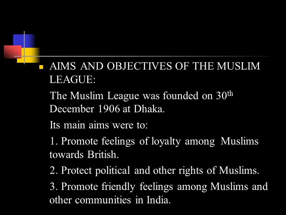 formation of muslim league Free essay: establishment of all india muslim league 1906 reasons for the formation of the all india muslim league after the creation of.
